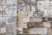 Medieval Fortress Stone Rampart Detail — Stock Photo