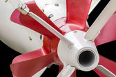 Torpedo TG 53 Driving System with Propellers and Flaps Detail — Stock Photo