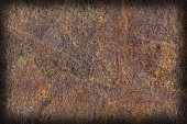 Old Natural Brown Cowhide Creasy Coarse Vignette Grunge Texture Sample — Stock Photo