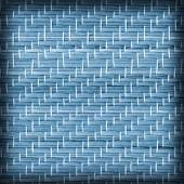 Straw Place Mat Bleached and Stained Blue Vignette Grunge Texture Sample — Stock Photo
