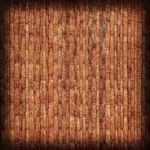 Straw Mat Red Ocher Vignette Grunge Texture Sample — Stock Photo