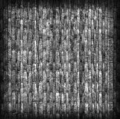 Straw Place Mat Bleached and Stained Gray Vignette Grunge Texture Sample — Stock Photo