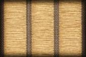 Paper Parchment Plaited Place Mat Natural Ocher Stained Vignette Grunge Texture Sample — Stock Photo