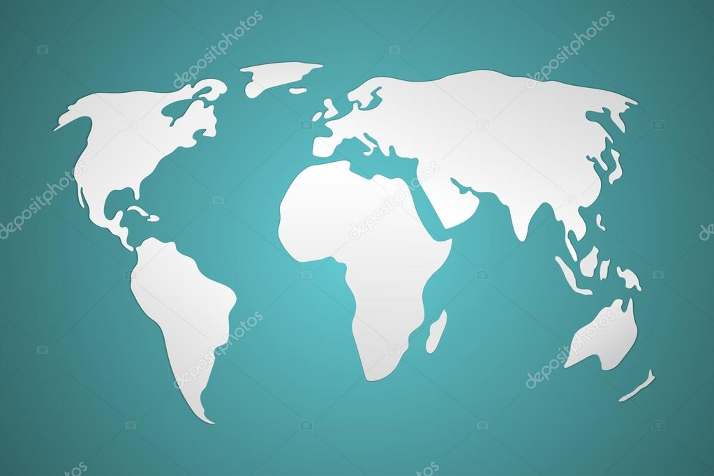 简化的世界地图矢量图