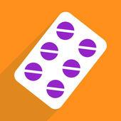Web icons modern design for mobile shadow, pills, medicine — Stock Vector