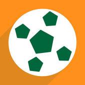 Web icons modern design for mobile shadow, soccer ball — Stock Vector