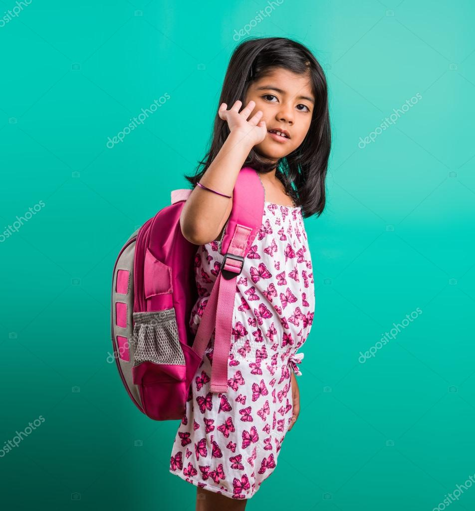 School bag for year 7 - 4 Year Old Hy Little Indian Standing With School Bag On