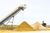 Sand mining — Stock Photo