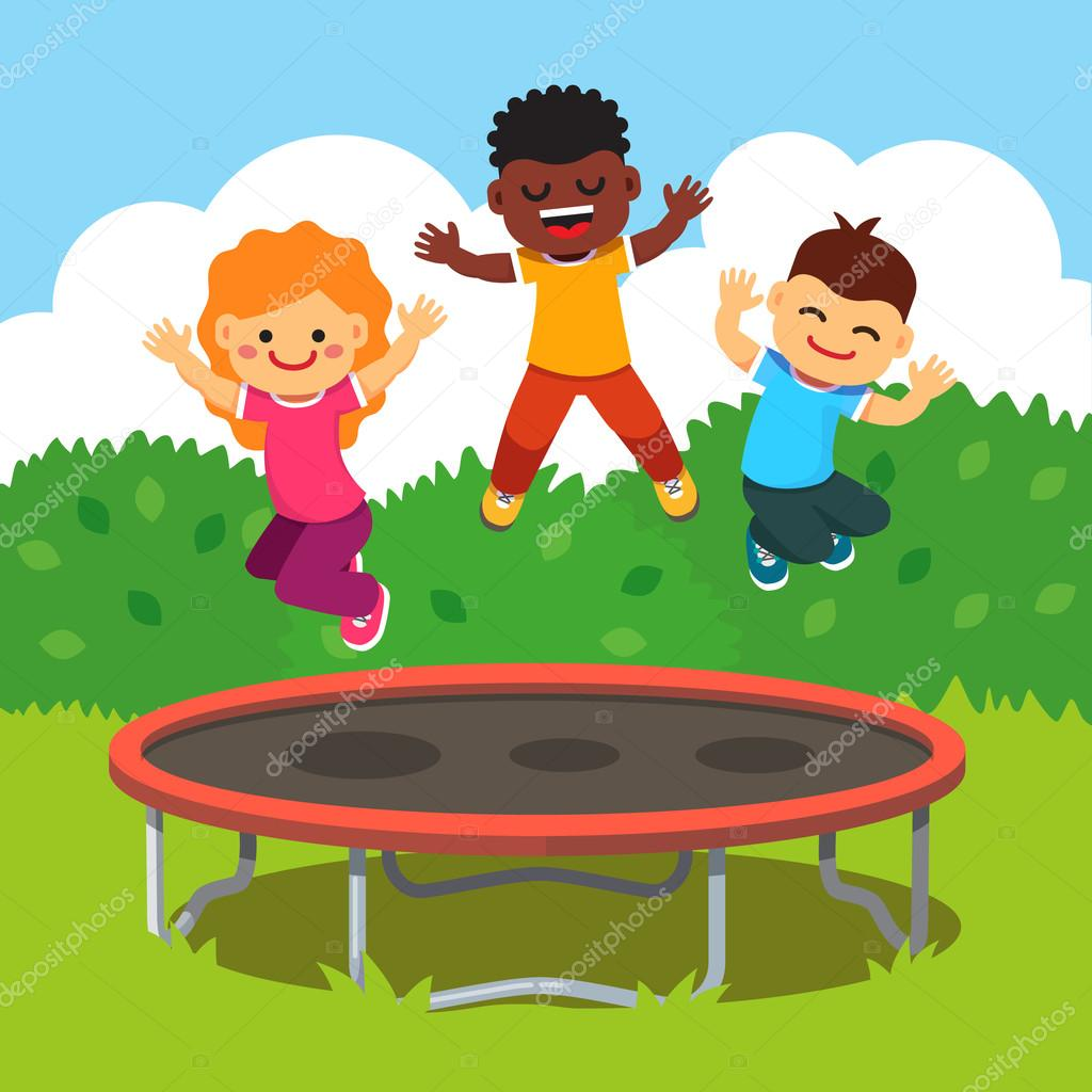 Children Having Fun At A Happy Summertime Vacation Stock