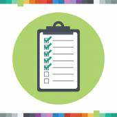Checklist icon with checked and unchecked squares. — Stock Vector