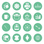 Icons types of printing, printing icon — Stock Vector