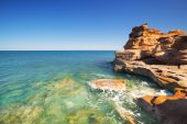 Red coastal cliffs at Gantheaume Point, Broome, Western Australi — Stock Photo