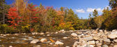 River through fall foliage, Swift River, New Hampshire, USA — Stock Photo