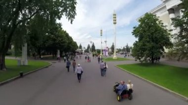 Sergi Merkezi VDKNh için ana giriş. — Stok video