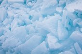 Stacked blue ice pieces — Foto Stock
