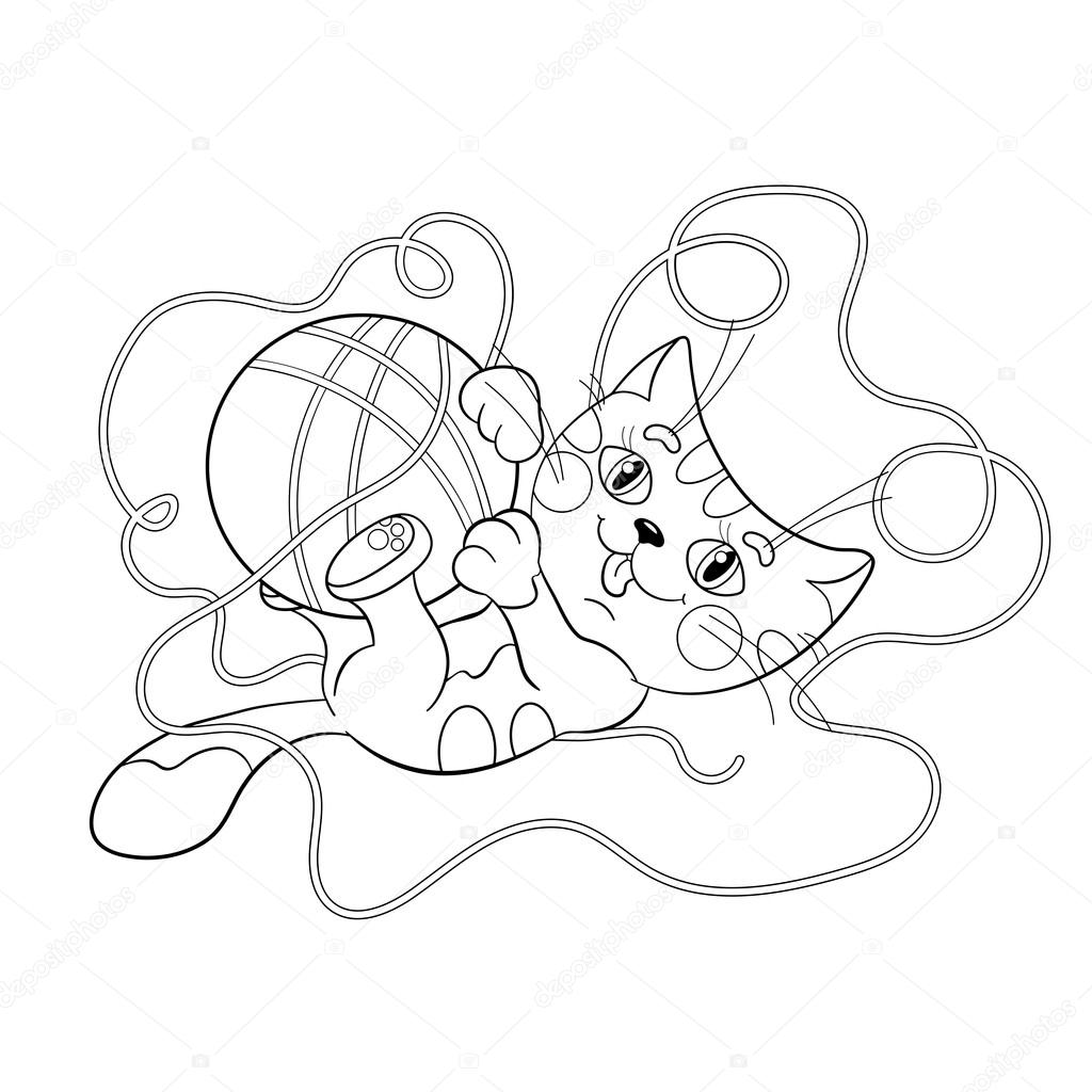 Disegni da colorare pagina muta di un gattino birichino - Phoenix pagina da colorare ...
