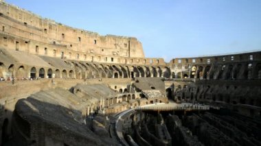 Colosseum one of  best-known sights of Rome — Stock Video