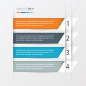 Tilted squares Modern infographics banner. — Stock Vector