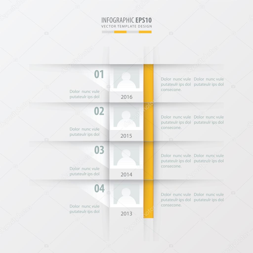 vector timeline report design template yellow color stock vector vector timeline report design template yellow color stock vector 88880118