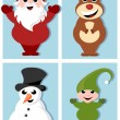Christmas characters cartoon design collection — Stock Vector #84872792