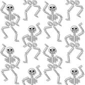 Patrón que se repite con esqueleto sobre fondo blanco — Vector de stock