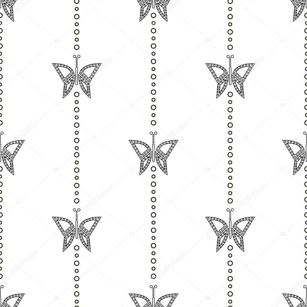 шаблон белой бабочки
