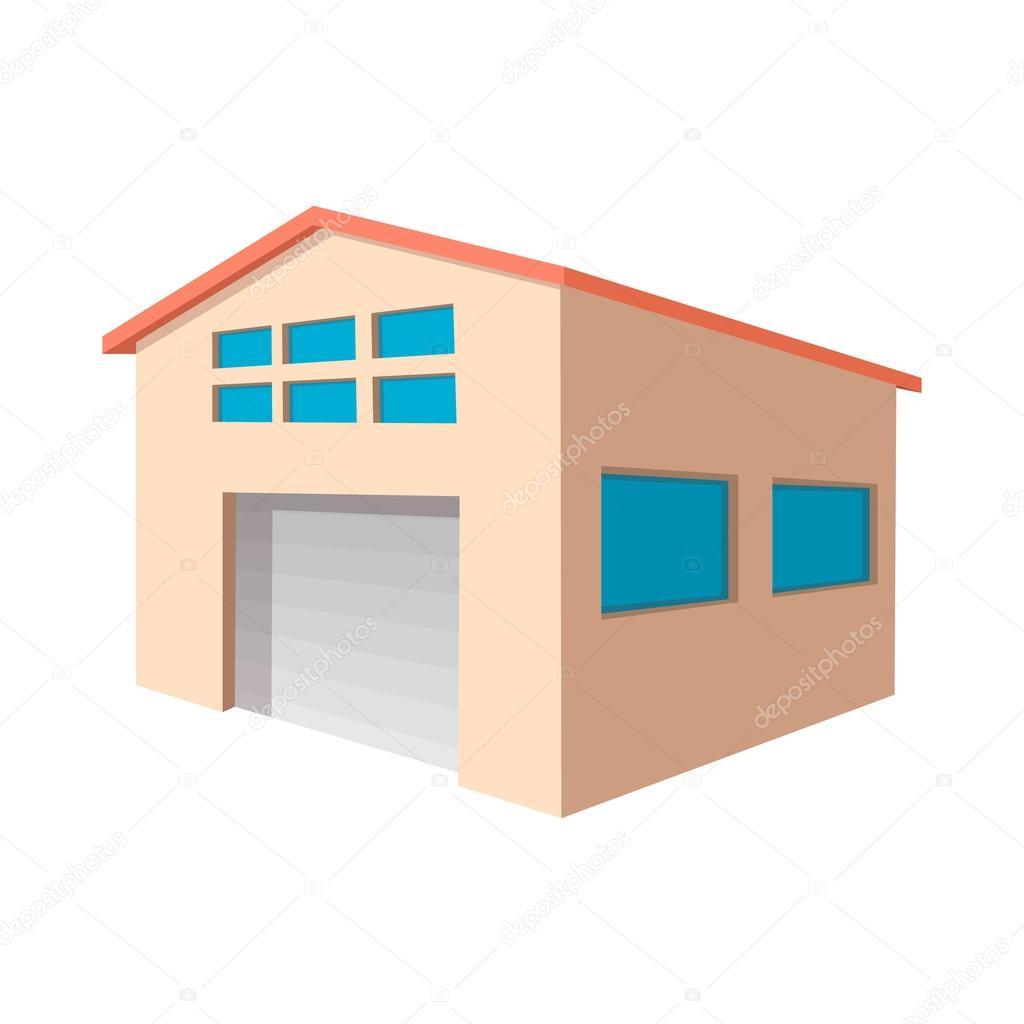 Entrep t industriel avec l 39 ic ne de dessin anim porte for Entrepot de porte et fenetre
