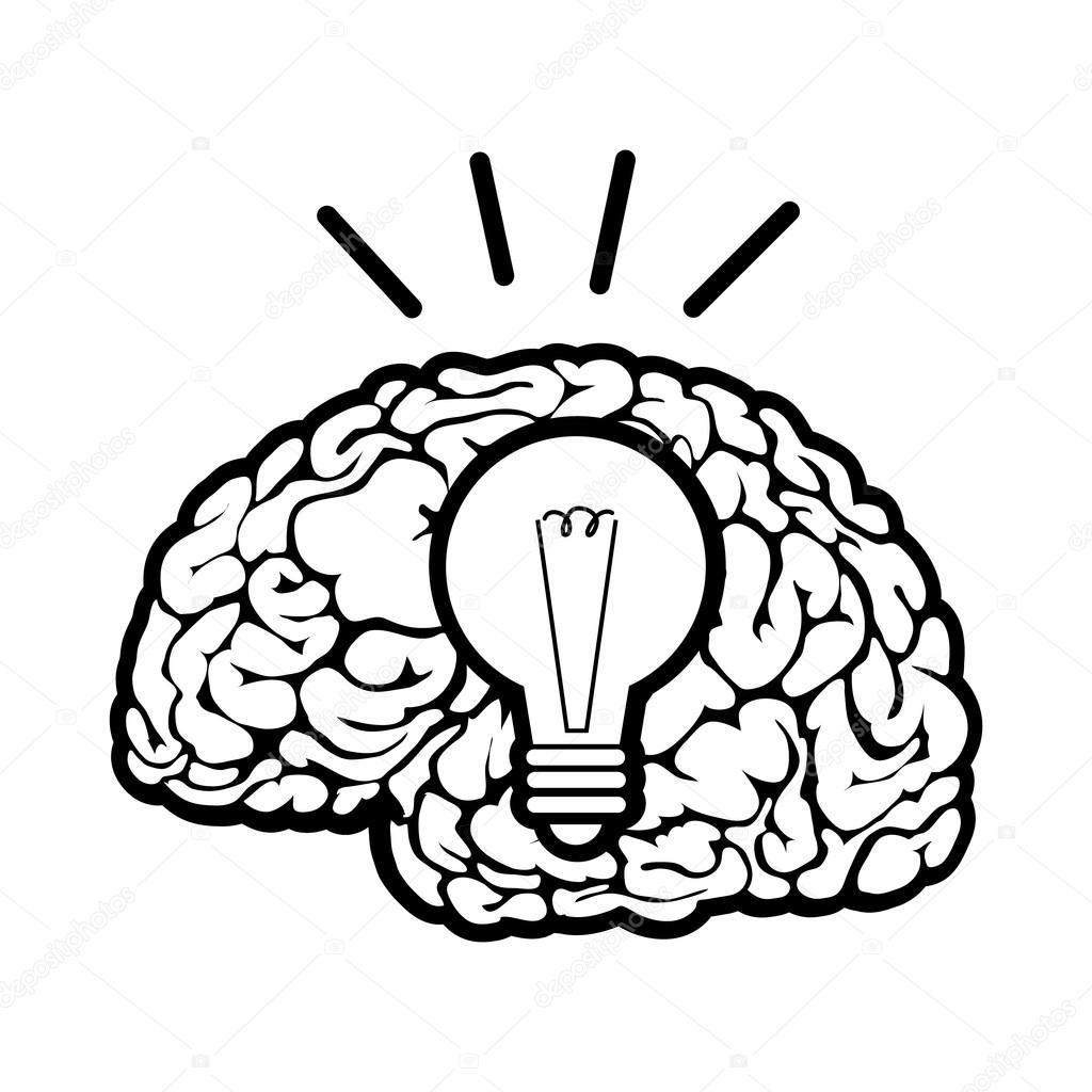 大脑卡通简笔画