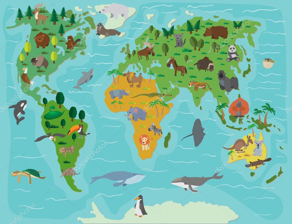 动物世界.可爱的卡通图