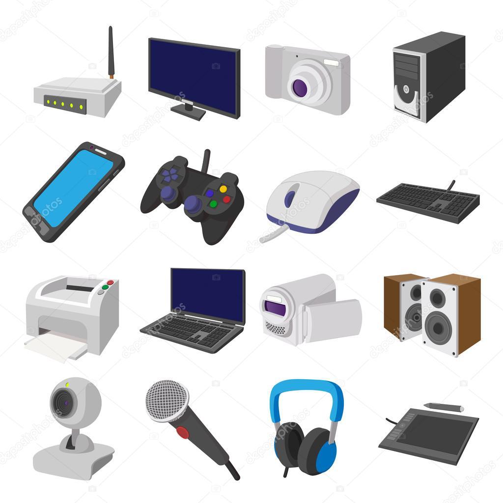 Tecnolog a y dispositivos de conjunto de iconos de dibujos for Todo tecnologia