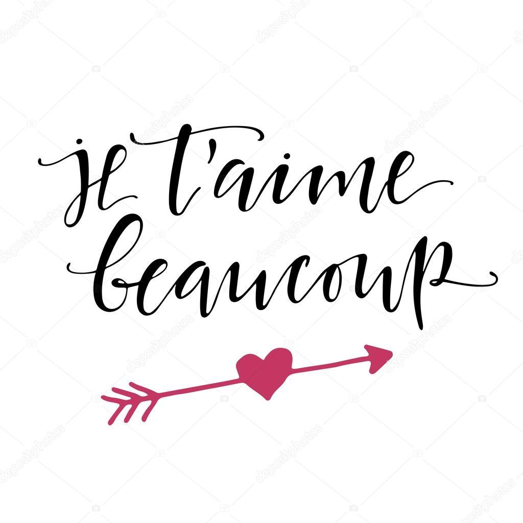 Francês Eu Te Amo Letras Cartaz