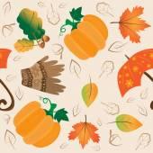 Podzimní vzor — Stock vektor