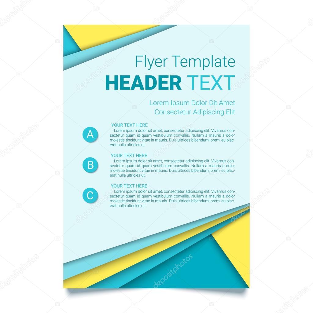 creative flyer template modern poster brochure business template creative flyer template modern poster brochure business template in a material design style vector illustration stock illustration