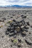 Stone and ash wasteland - volcanic landscape — Stockfoto