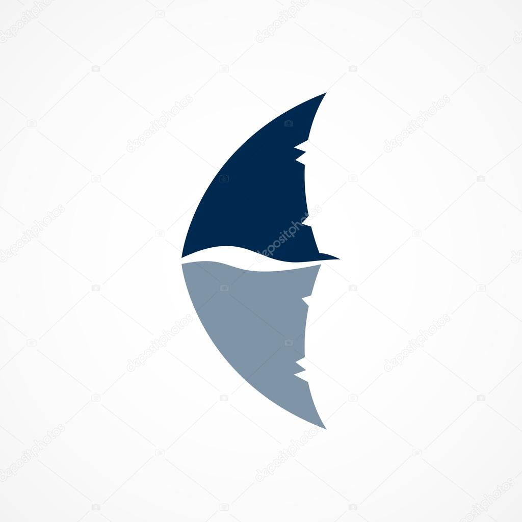 logo de aleta de tibur u00f3n se muestra sobre fondo blanco san jose sharks fin logo Shark Fin Cartoon