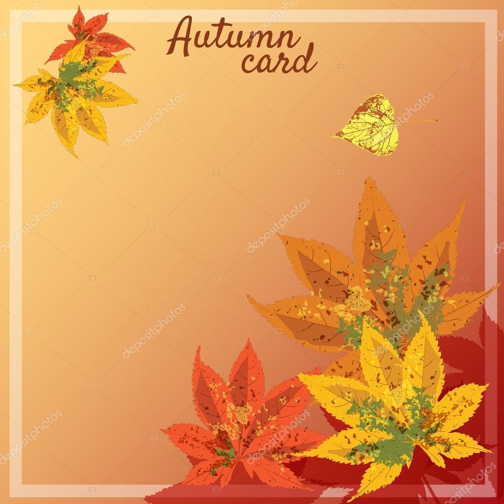 Осенние листочки как открытки