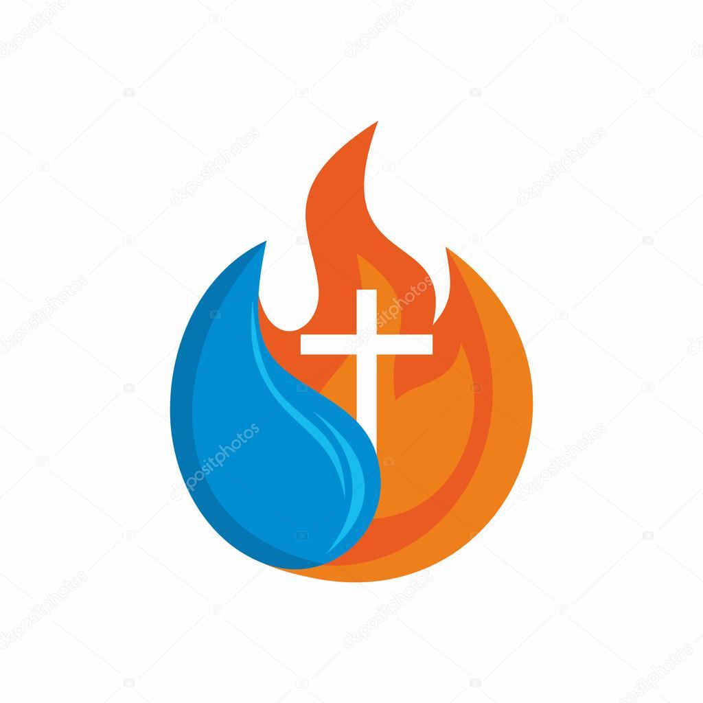 igreja de logotipo s237mbolos crist227os cruz o fogo do