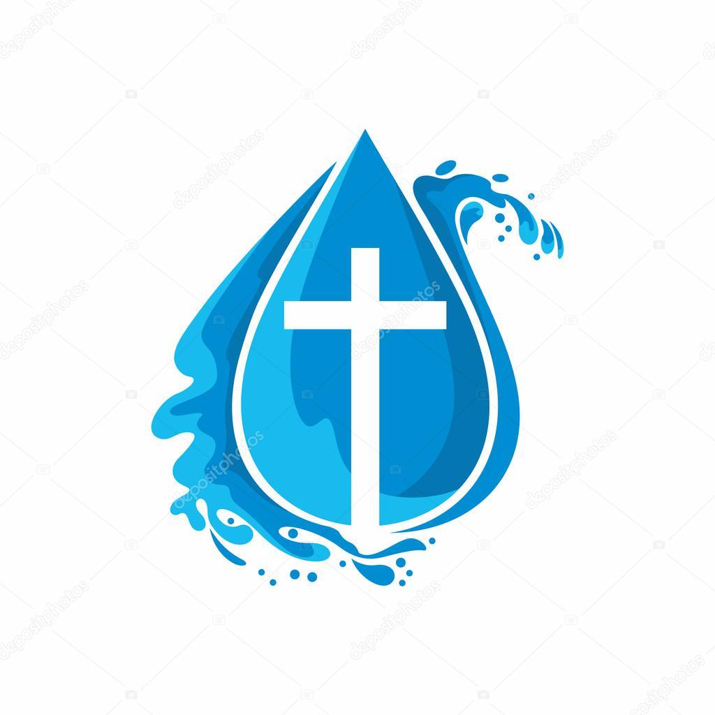 logo church christian symbols a drop jesus the source of living water stock vector baptism clipart free christian baptism clipart for bulletin