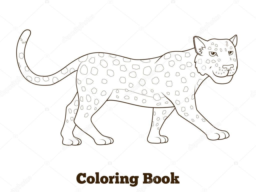 Animales de la sabana africana de leopardo de libro para ...