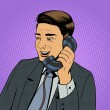 Постер, плакат: Businessman talking on the phone vector