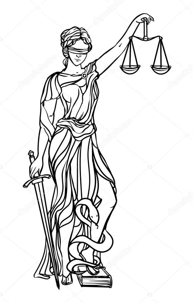 Символ правосудия богиня фемида держит в своих руках