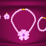 ������, ������: Jewelry set pink satin burgundy