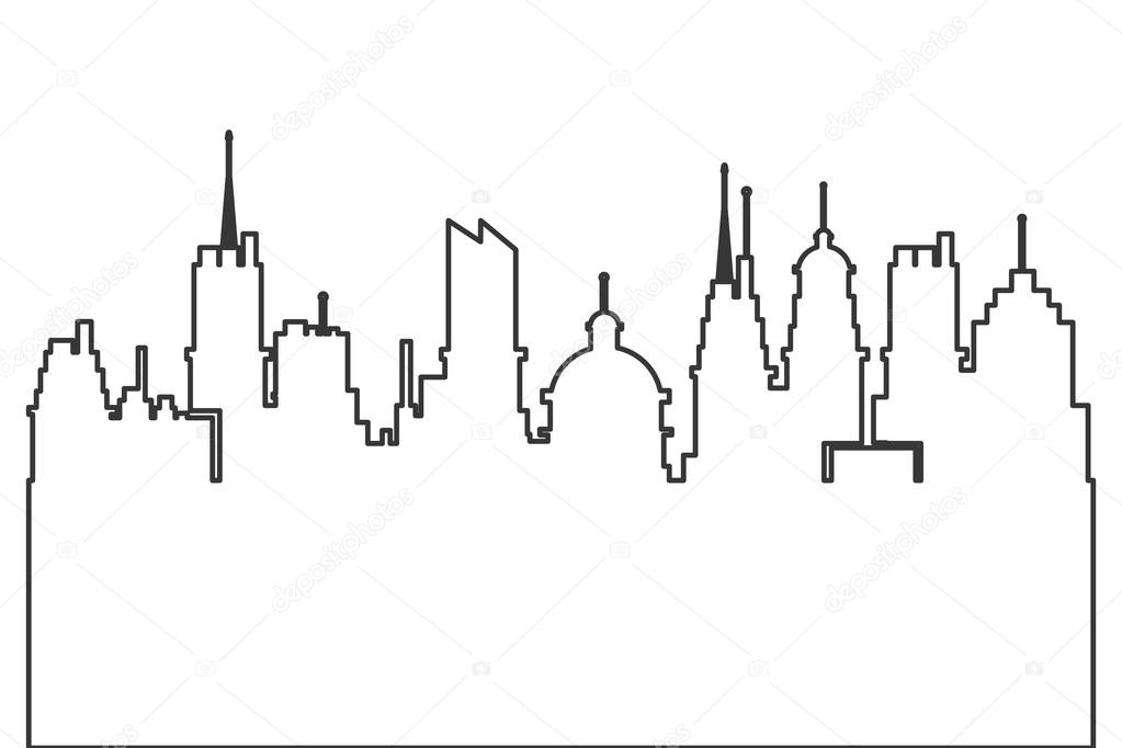 city skyline outline simple - photo #3