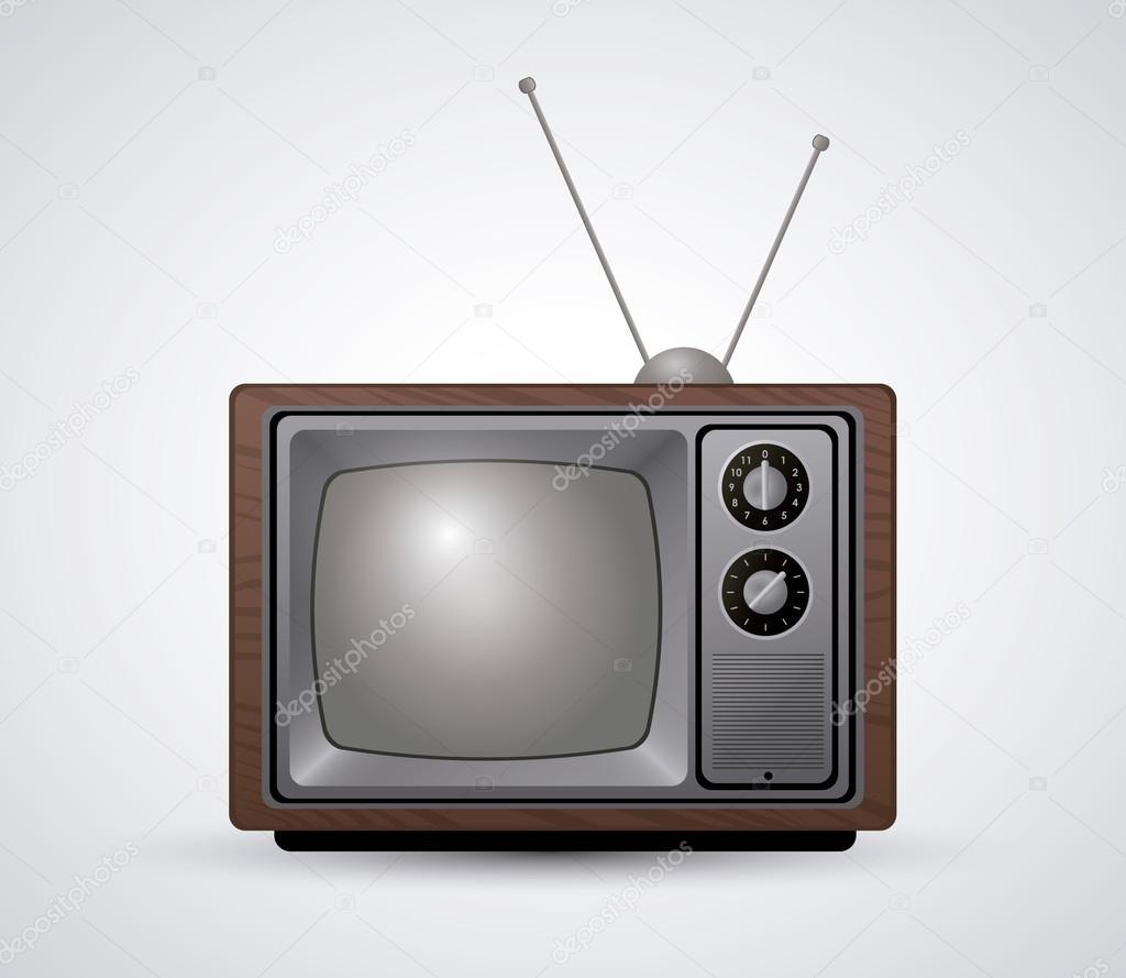 复古和旧电视概念设计, 矢量图 10 eps 图形– 图库插图