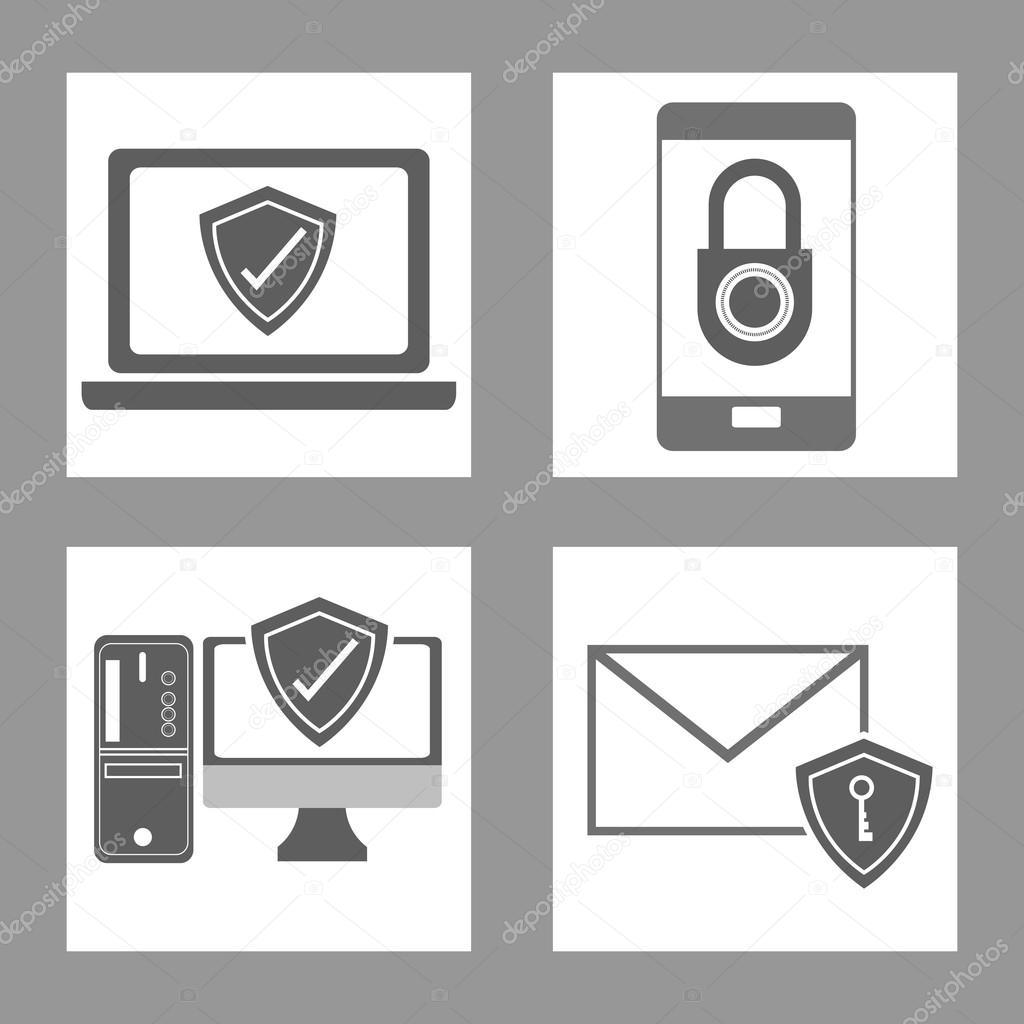 网络与安全设计, 矢量图 10 eps 图形的概念– 图库插图