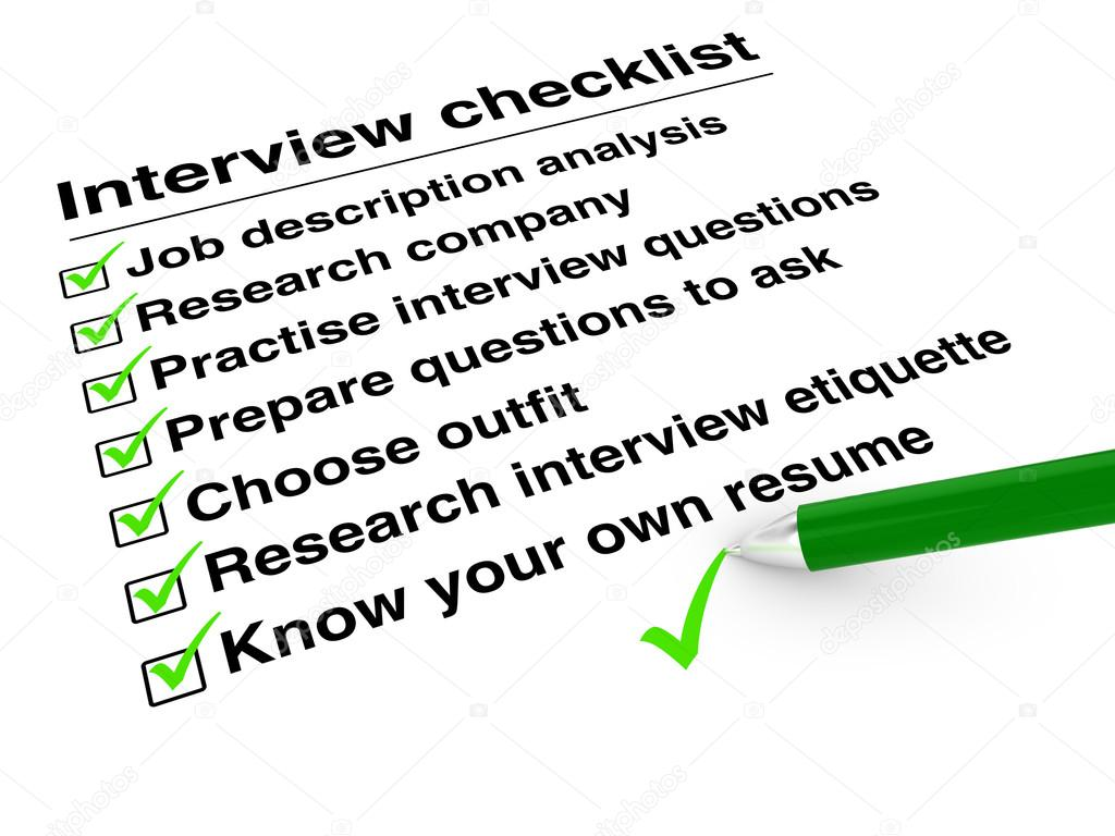 job interview checklist stock photo copy beebright  job interview checklist stock photo 89347322