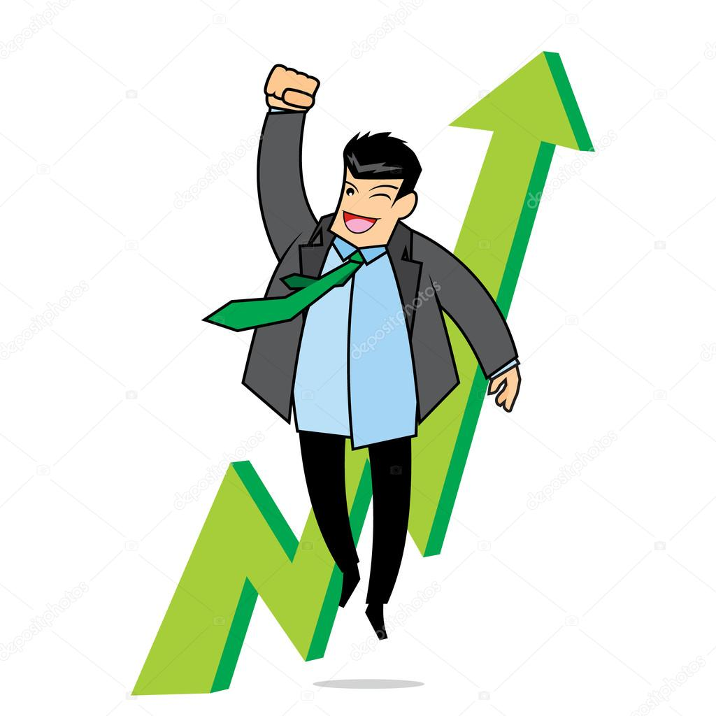 the salary raise stock vector © vable 108855430 businessman happy because the salary is rising vector by vable