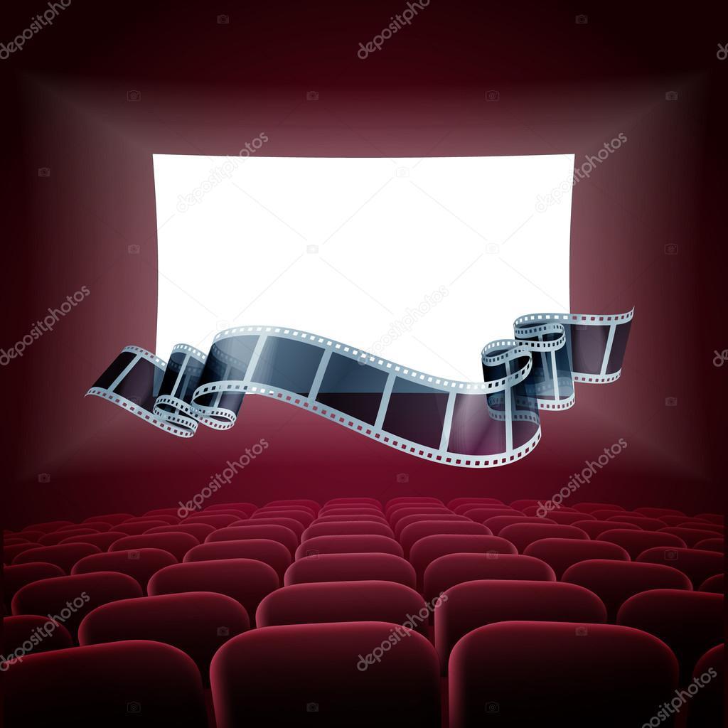 Rollo de cinta de cine — Vector de stock #86700486