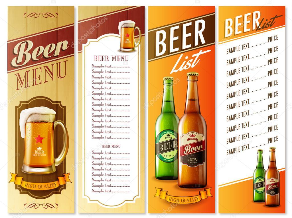 Beer menu list Vector 88396392 – Beer Menu