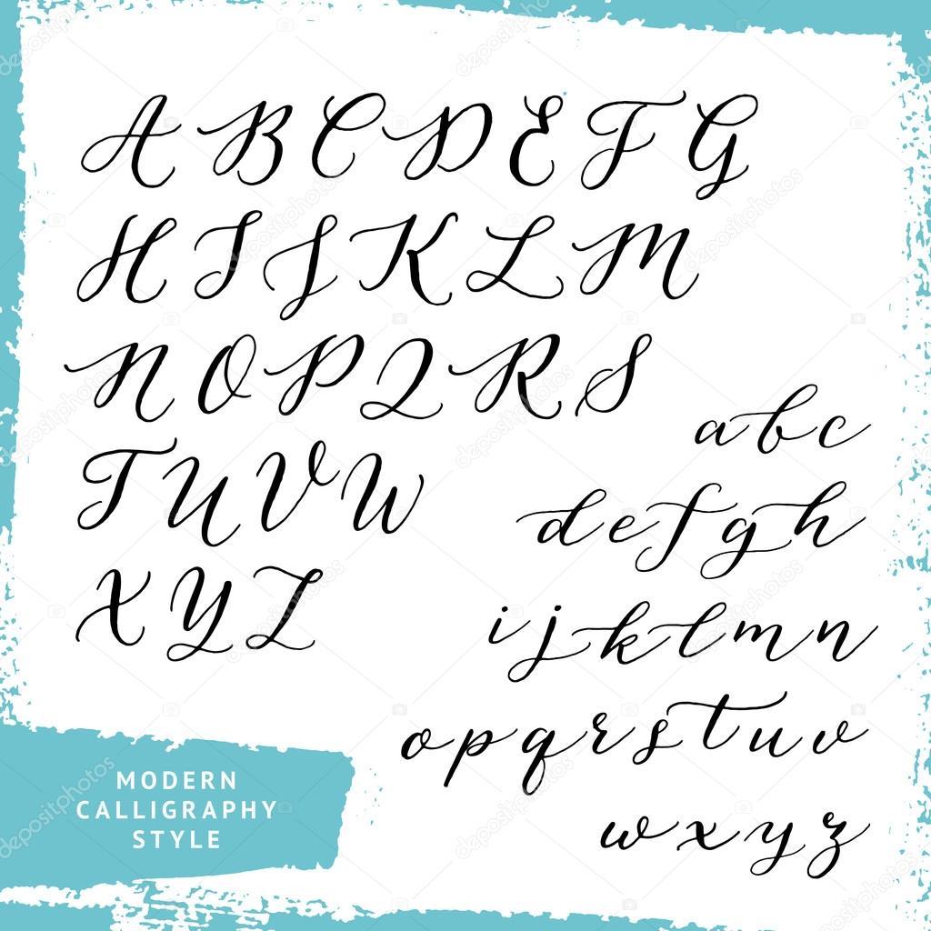 Estilo de caligrafia moderna vetor stock � ugina